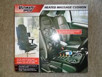 Heated Back Seat Remote Control Massage Chair Car Home Cushion Relax Pain Lumbar