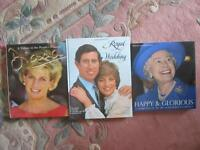3 ROYALS 'coffeetable' COLLECTOR BOOKS