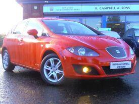 2011 Seat Leon CR TDI COPA Ecomotive S 5 Door Hatchback In Red