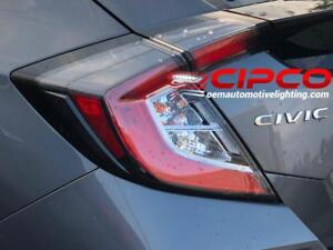 2017 Honda Civic Hatchback Tail Light, Tail Lamp Right = Passenger Side / Outer = Side Panel Mounted / Used = Clean & Un