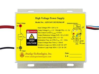 High Voltage Power Supply Ahv24v15kvr5maw Linear Regulation New Free Ship