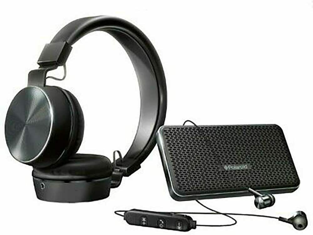 Polaroid HD Wireless Bluetooth Audio Bundle with Speaker Hea