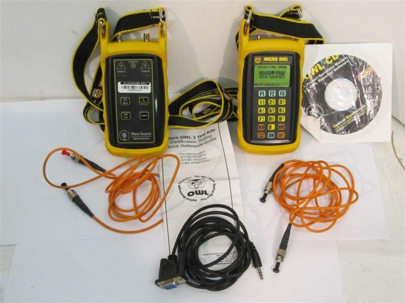 Micro Owl KIT-M2-WSMDV, Fiber Optic Wave Source Test Kit, USED