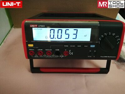 Uni-t Ut803 Bench Top Digital Multimeter T-rms Dmm Voltmeter Rs232 Usb Pc Softw