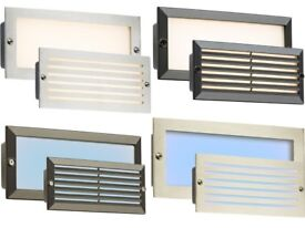 Knightsbridge LED Bricklight Outdoor Brick Wall Light Steel Black Fascia IP54