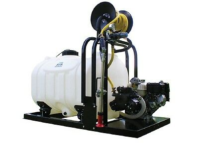 Tree Fire Sprayer With Hose Reel 60 Gallon Skid Sprayer