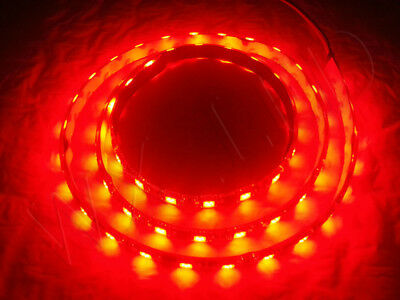 1 METER RED 60 LED BLACK PCB FLEXIBLE WATERPROOF 5050 SMD LED STRIP