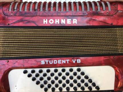 Red Hohner Accordion