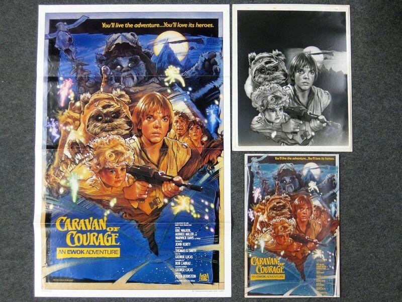 Star Wars An Ewok Adventure Movie Poster Caravan of Courage Production Studio