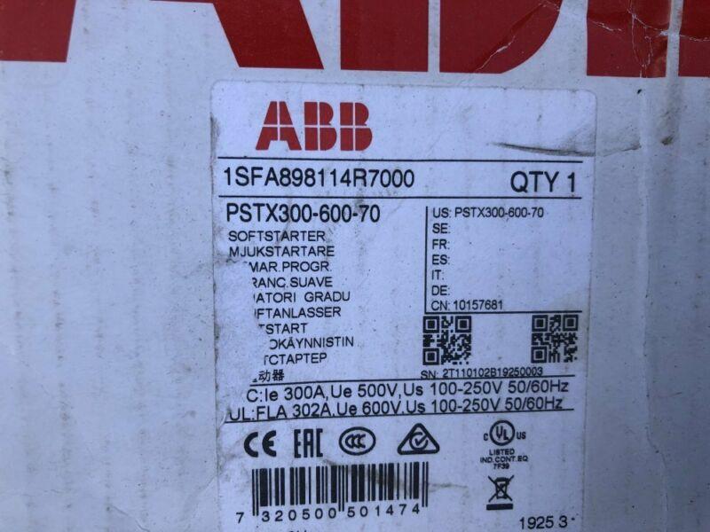 1pc new ABB PSTX300-600-70 1SFA898114R7000