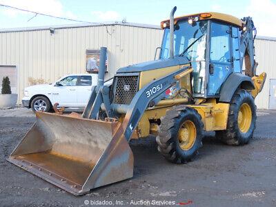 2012 John Deere 310sj 4wd Backhoe Loader Tractor Cab Aux Hyd 4x4 Bidadoo