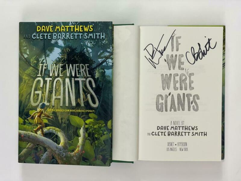 """DAVE MATTHEWS SIGNED AUTOGRAPH """"IF WE WERE GIANTS"""" BOOK - BAND CRASH BIG WHISKEY"""