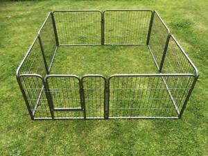 61cmH heavy duty Pet Dog steel Playpen Cage fence Enclosure 18kg
