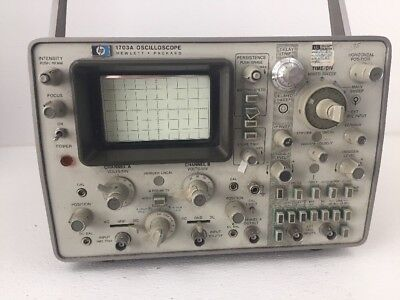 Vintage Hp Hewlett Packard 1703a Oscilloscope Excellent