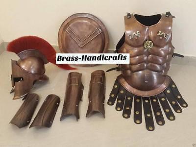 300 Medieval King Roman Spartan Helmet With Muscle Jacket War Armor Shield - Spartan War 300