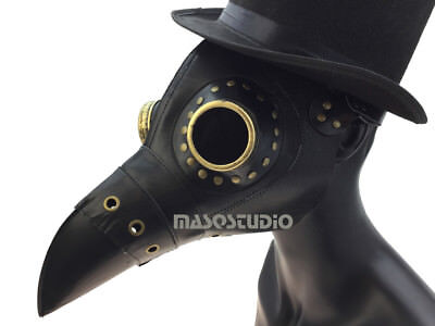 Plague Doctor Long Nose Bird Mask Costume Cosplay Rax Walker Halloween - Walker Costume