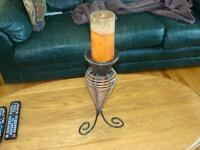 Decorative Wicker Candle Holder and Candle