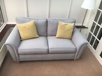 Grey fabric sofa (brand new condition)
