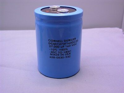 1 Cornell Dubilier Dcmc273t160dc2d 27000uf 160vdc Electrolytic Capacitor