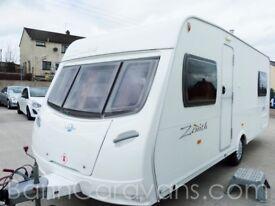 (Ref: 793) 2007 Lunar Zenith 4 Berth Touring Caravan Free Awning Free Motor Mover!