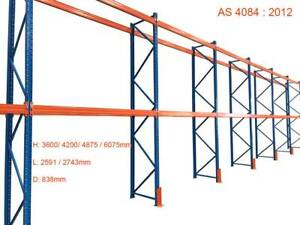 Heavy DutyPallet Racking Upright Warehouse Beams 3.6M--6M HIGH