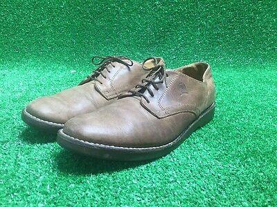 Rare Tommy Hilfiger Vtg Men's Leather Shoes 10M Brown Oxford Distressed Hipster