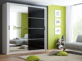 **7-DAY MONEY BACK GUARANTEE!**- Brandal Sliding Door Wardrobe Glass Panels - Brand New!RRP£399