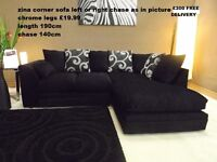8 DESIGNER SOFAS LEATHER FABRIC 3+2 OR CORNER BRAND NEW FREE DELIVERY FREE POUFFE