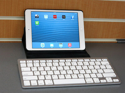 Slim Wireless Bluetooth Keyboard for Apple Windows Android Tablet PC Smart TV
