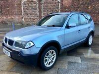 2004 BMW X3 DIESEL / ALLOYS / ELECTRIC WINDOWS / CD / AIR CON / JUNE MOT .