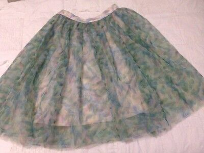 Lauren Conrad Disney Cinderella Tulle Skirt Xs tutu leaf Floral