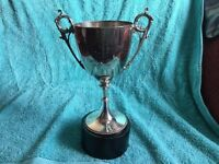 Vintage Silver Plated Trophy Dated 1891