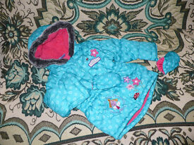 Winter jacket/coat with mittens for 2-3 years, Ben & Holly's Little Kingdom. Like new, worn twice.
