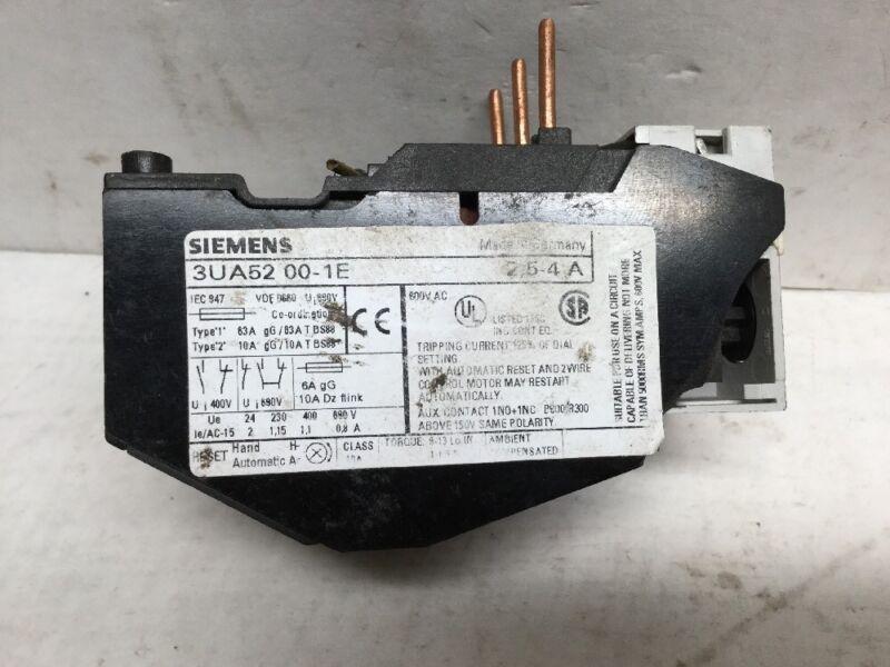 Siemens 3UA5200-1E Overload Relay (Used)