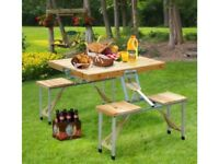 **FREE & FAST UK DELIVERY** Portable Folding Table And 4 Chair Sets - BRAND NEW!