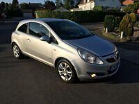 Vauxhall Corsa SXi 1.2 Petrol 2009 3 Door Silver 12 Months Mot