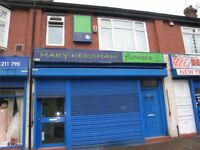 Property for sale suitable for retail or offices with self contained flat to let main road position