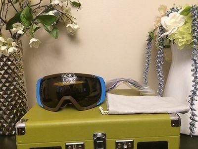 7ecc8f6c7c1 Dragon Rogue Peter Millar Ski Goggles Extra Lens Jet + Blue Steel RL