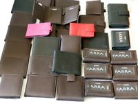 28 Real Leather Wallets, ideal for car boot. market stall , direct sales etc