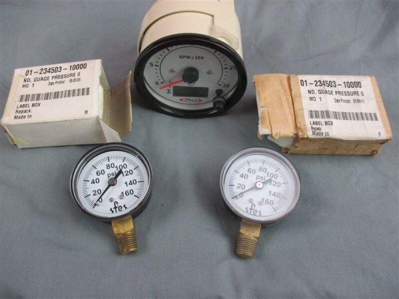 NOS Pierce Fire Engine 3000 RPM Tachometer & Hourmeter