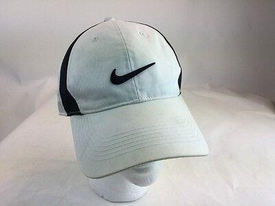 e7cabafa094f7 NIKE golf white Black golf visor hat cap some marks Adjustable Closure