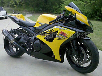 YELLOW INJECTION ABS Fairing Kit For SUZUKI GSXR1000 GSXR 1000 07 08 K7 2007 08, used for sale  Shipping to Canada