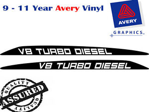 V8 TURBO DIESEL Decal Sticker for Toyota Landcruiser 76 70 78 79 Bonnet scoop