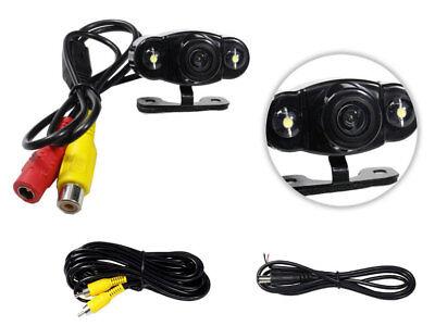Telecamera retromarcia 2 led a colori infrarossi per auto camper con staffa