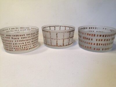 Paola Navone For Egizia Frosted And Gold Bowls Set Of 3 13x7cm 5x2.75 Inches segunda mano  Embacar hacia Argentina
