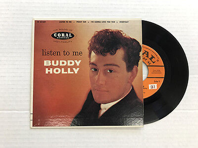 Buddy Holly Listen To Me Coral Ep Ec 81169 1St Press Vinyl 9 0  Cover 9 4