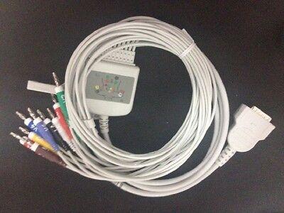 Ge Marquette Mac Ecg Ekg Cable 10leads Aha Banana4.0 Compatible