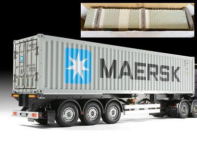 Tamiya RC 40-FOOT Contenedor Semi Remolque Acabado Producto Truck Tractor Maersk
