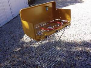 GASMATE 3 BURNER GAS CAMPING STOVE WITH PLATE & STAND - NEW! Seacombe Gardens Marion Area Preview