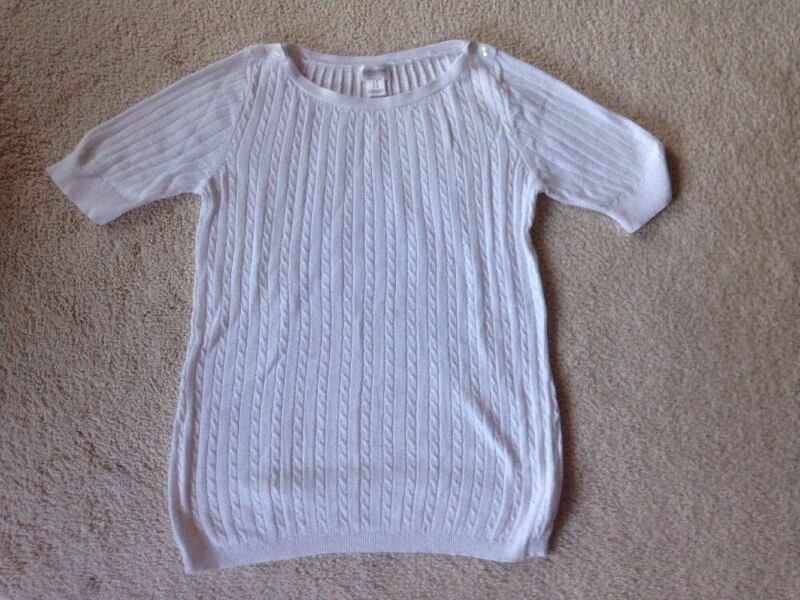 Motherhood Maternity Sweater White Size Medium